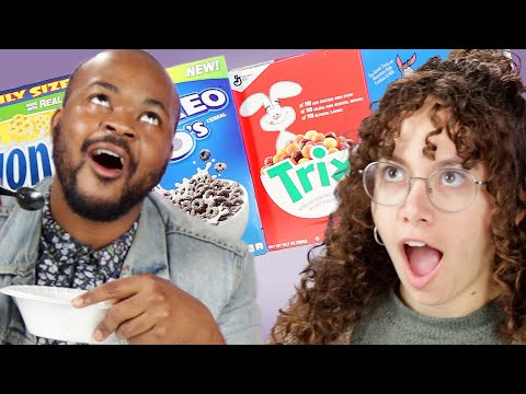 Adults Try Their Favorite Childhood Cereals