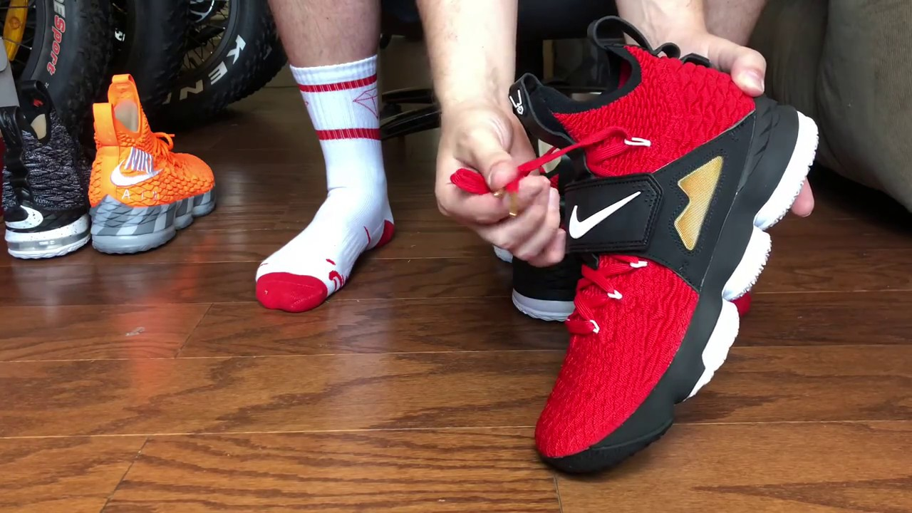 9adc028bea5681 Lebron 15 Diamond Turf Red on foot! (SNKRS DRAW)