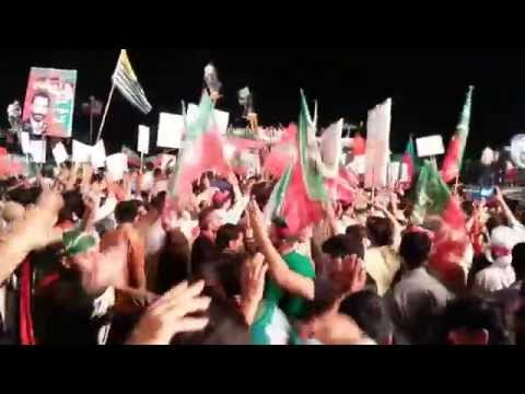 Waya Waya, pukhtoon song was enjoyed at PTI Azadi march dharna in Islamabad, Aug/Sept 2014