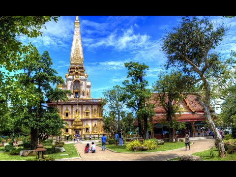 Chalong Temple (Wat Chalong) In Phuket  Thailand