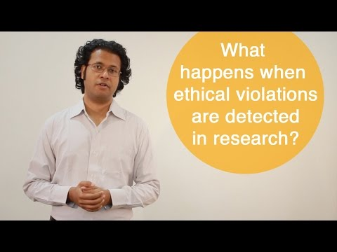 What happens when ethical violations are detected in research?
