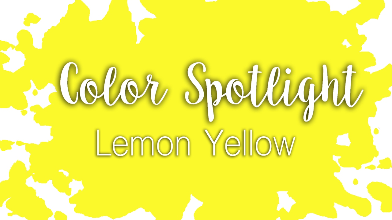 Color Spotlight: Lemon Yellow / Hansa Yellow Light / Watercolor ...