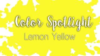 Color Spotlight: Lemon Yellow / Hansa Yellow Light / Watercolor Color Profile