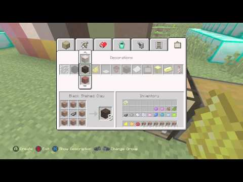 How to make stained clay in minecraft ps4
