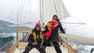 Riding the back of a Hurricane 💨⛵😬 + Our Downwind Pole Setup -Sailing Vessel Delos Ep. 308