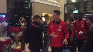 لحظة وصول لاعبي أتليتكو مدريد فندق الإقامة بالإسكندرية لمواجهة «الأهلي» ودياً