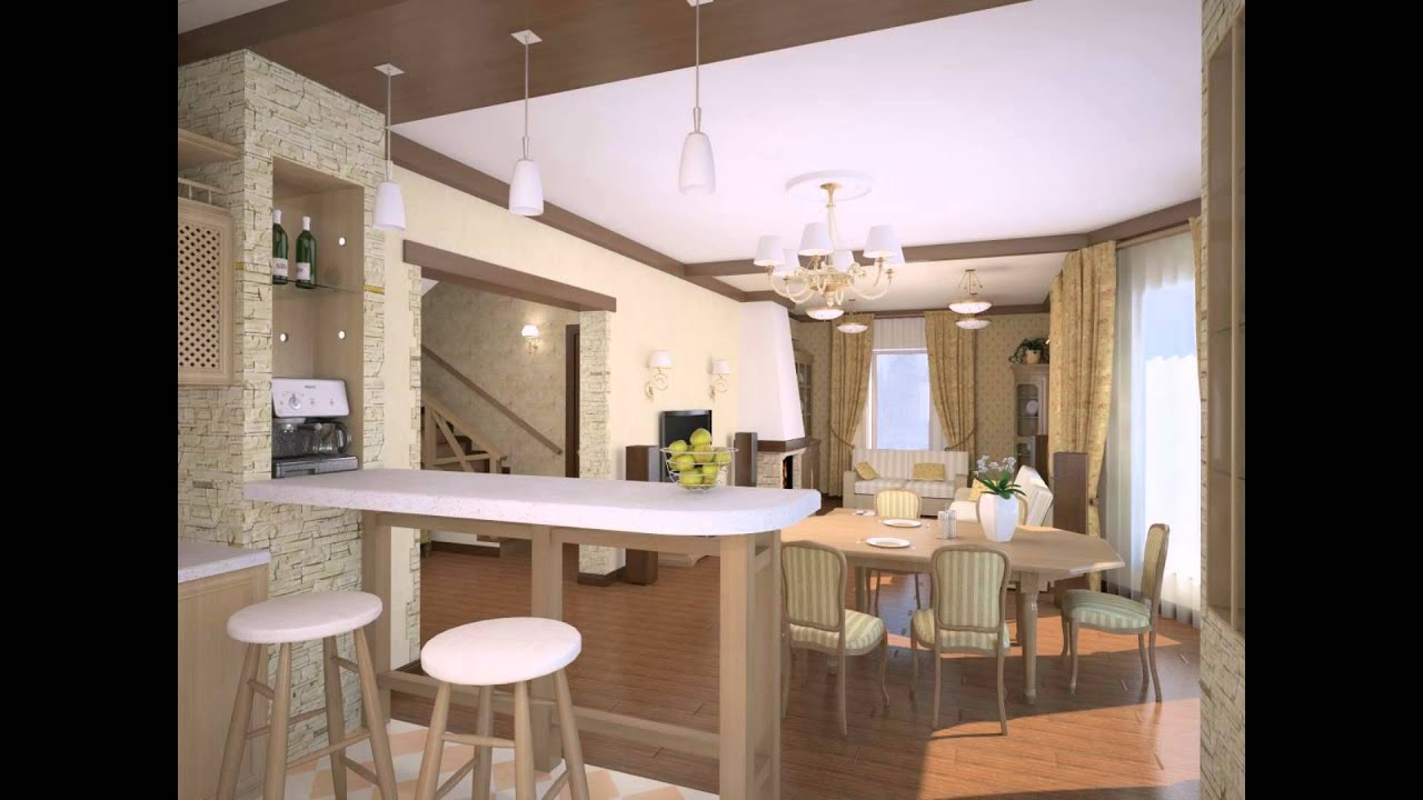 Кухни совмещенные с гостиными, дизайн кухни совмещённой с го.