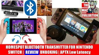 HOMESPOT BLUETOOTH TRANSMITTER FOR NINTENDO SWITCH | REVIEW | UNBOXING | APTX Low Latency