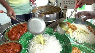 It's a Lunch Time in Hyderabad Street - Rice , Dal & Veg Curry -  5 Rs Meal Only