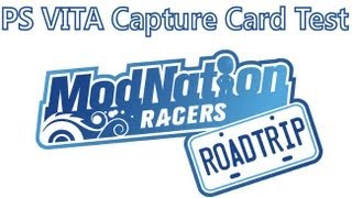 Playstation Vita Capture Card - Mod Nation Racers Road Trip - Test