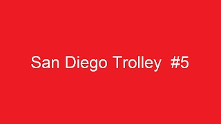 San Diego Trolley at 8th Street Station in National City, California on April 24, 2008