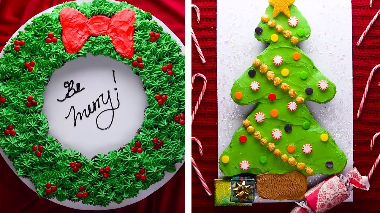 7 Winter Themed Cupcake Cakes For This Holiday Season Christmas Dessert Recipes By So Yummy