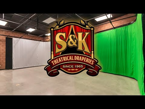 S&K- Studio Curtains-Green Screen- Custom Track