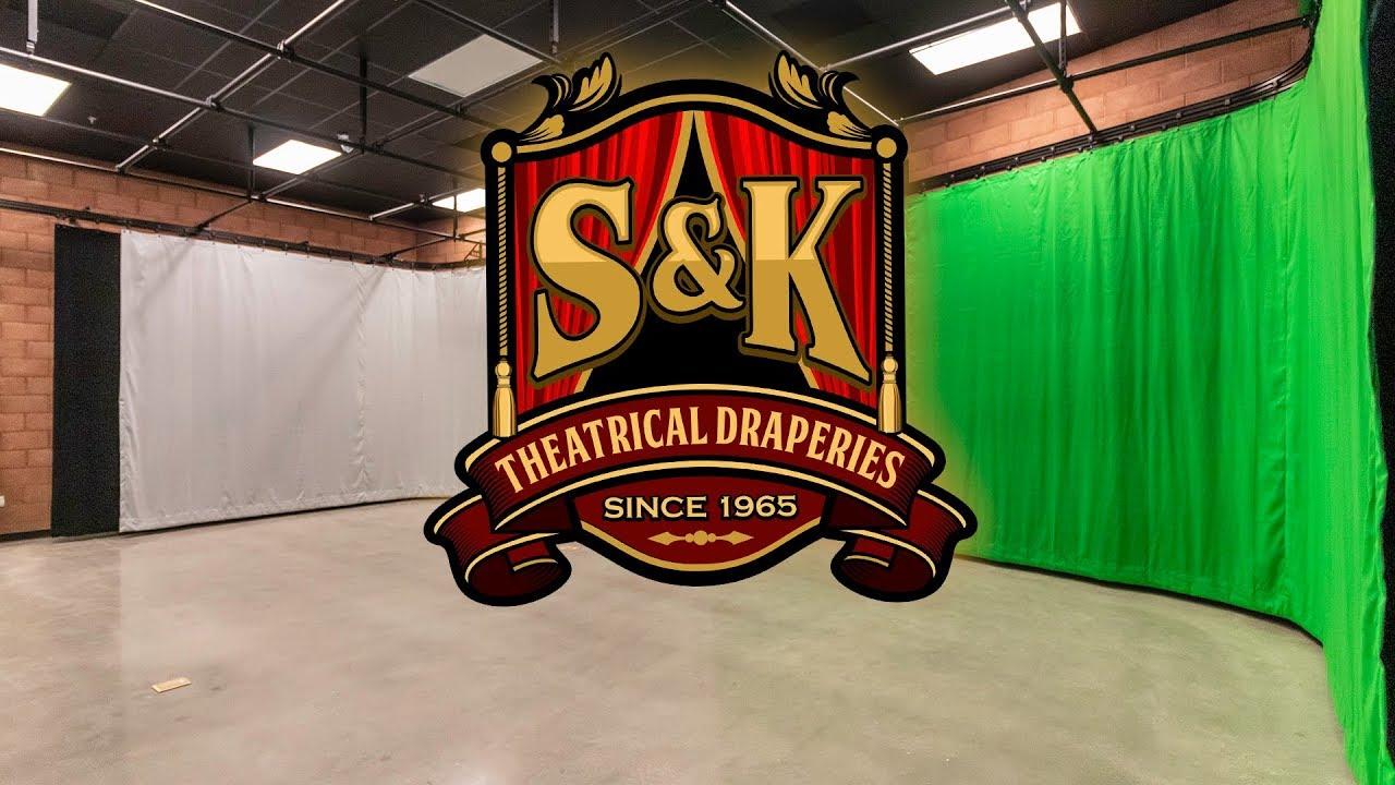 s k studio curtains green screen custom track