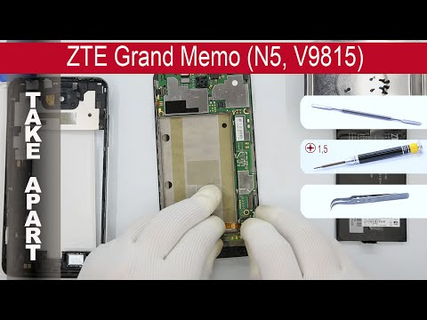 How to disassemble 📱 ZTE Grand Memo N5 (V9815) Take apart, Tutorial