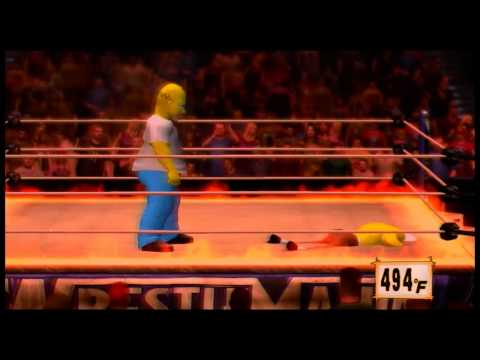 WWE 12 Homer Vs Sponge Bob Inferno Match