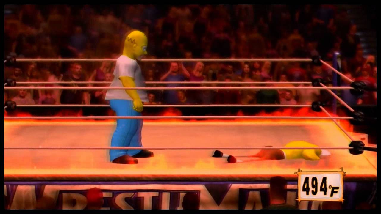 Wwe 12 Homer Vs Sponge Bob Inferno Match Youtube