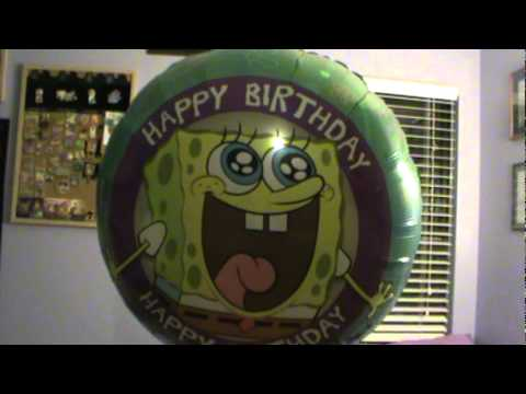 Spongebob singing Happy Birthday