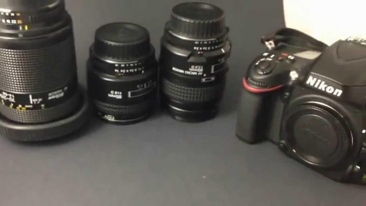 NIKON FULL FRAME CAMERA - What Lenses do you need? - YouTube
