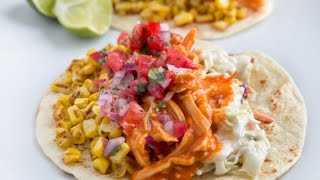 Buffalo Chicken Tacos With Blue Cheese Slaw