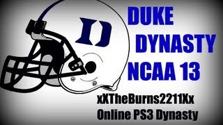 NCAA 13: Duke Blue Devils Dynasty (xXTheBurns2211Xx PS3 OD) EP1 vs FIU