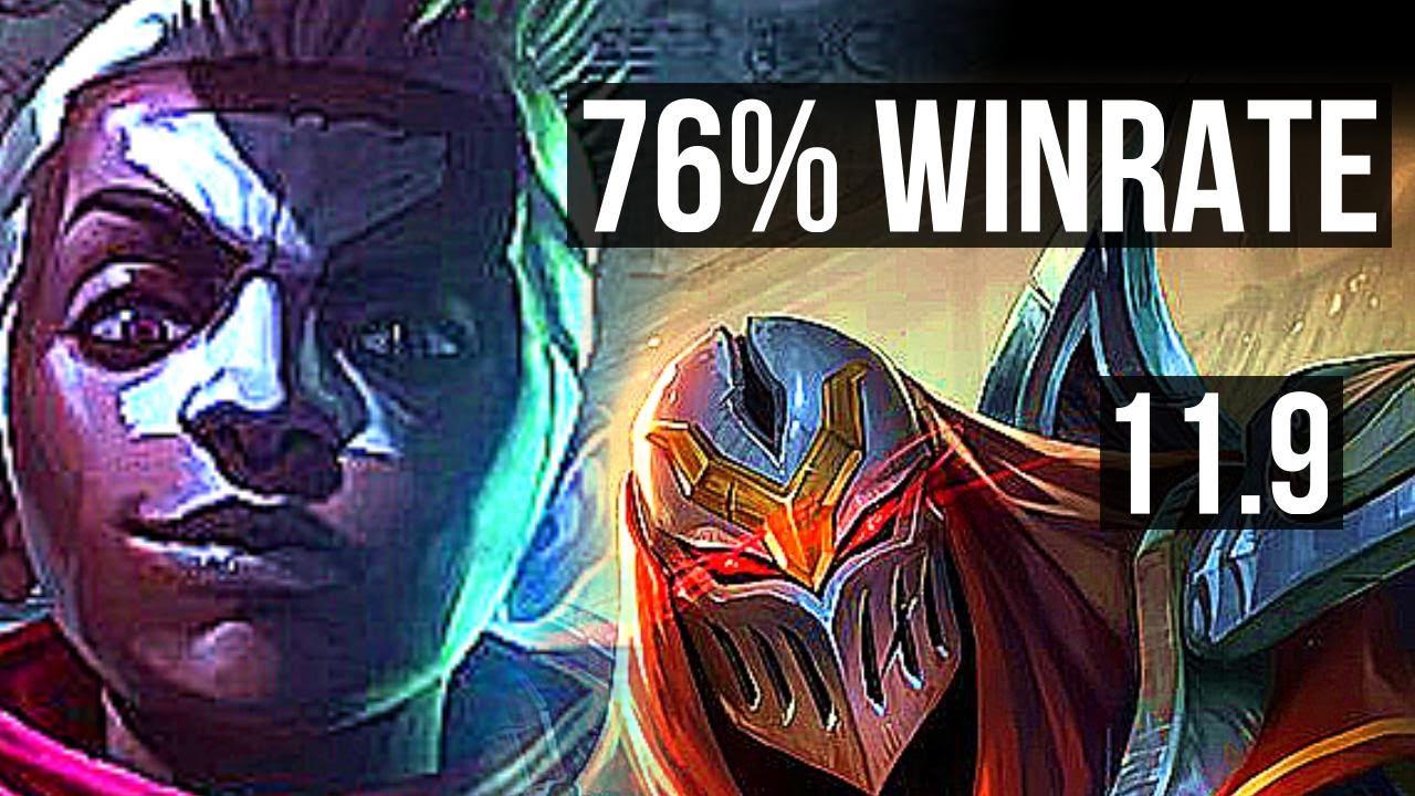 EKKO vs ZED (MID)   76% winrate, 6 solo kills, 18/5/11   KR Master   v11.9