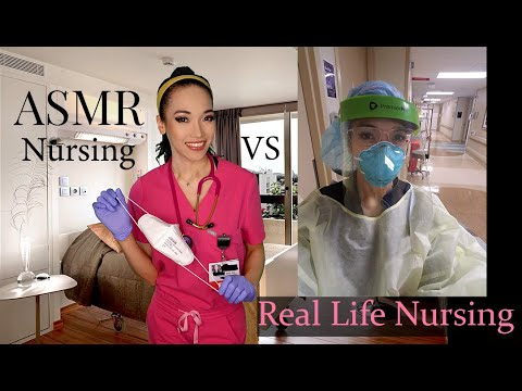 ASMR Covid 19 Unit Nursing (A Look into what I do Inside a Real Nursing Unit)
