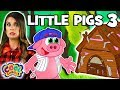 The Three Little Pigs 🐷Chapter 3 🐷BRAND NEW Story Time with Ms. Booksy | Cartoons for Kids