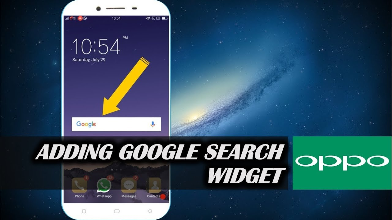 How to Add Google Search Widget in OPPO