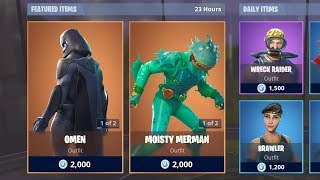 OMEN & MOISTY MERMAN SKINS (Fortnite Item Shop 4th December)