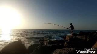 דייג  בורות עם  בוס  שובר חוף הכרמל .נעילה ותקיפה לוקוס  21.9.16