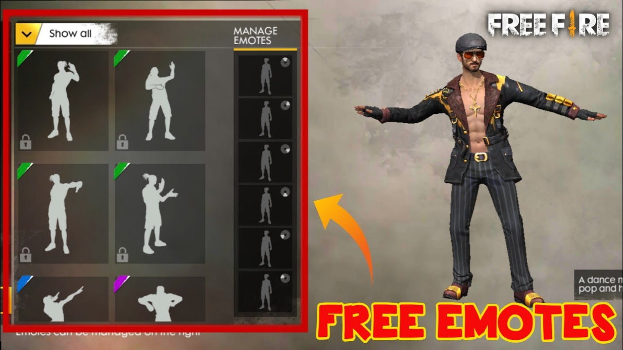 How To Get Free Emotes In Free Fire For Free Free Diamonds In Garena Free Fire Youtube