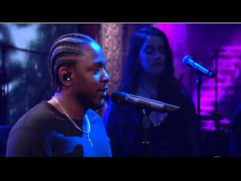 Kendrick Lamar Performs On Late Show with...