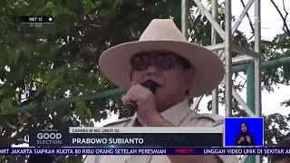 Good Election: Kampanye Terbuka Prabowo Disambut Warga