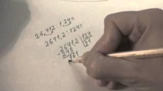 Деление столбиком смешанных чисел