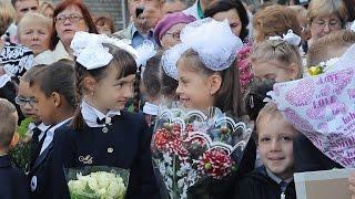 День знаний. 1 сентября 2015 года. Кузьмоловская школа (Лен.область)