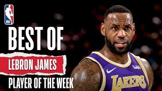 LeBron James | Full Highlights | Western Conference Player Of The Week