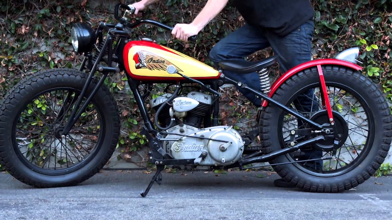 My 1940 Indian Scout Flat Tracker with Racing Pedigree. - YouTube
