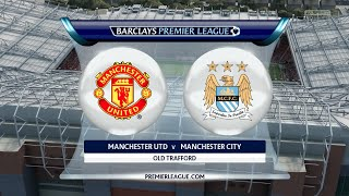 "FIFA 16 - Manchester United vs. Manchester City ""Manchester Derby"" @ Old Trafford"