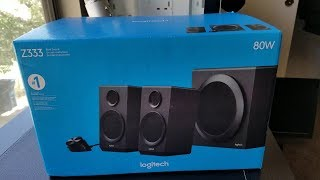 Logitech Z333 Unboxing and Mini Review