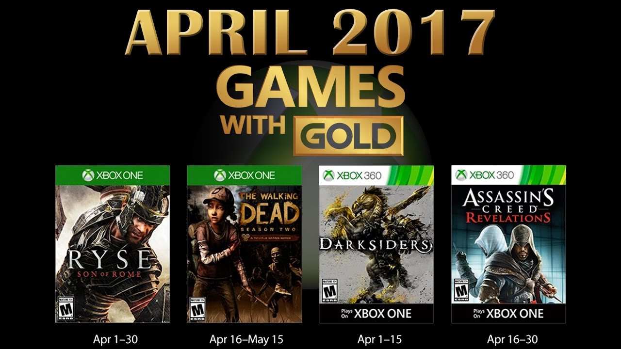 Games With Gold April 2017 Youtube