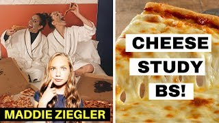 MADDIE ZIEGLER Loves Animals? | Cheese Is Good For You! | Mukbang Response