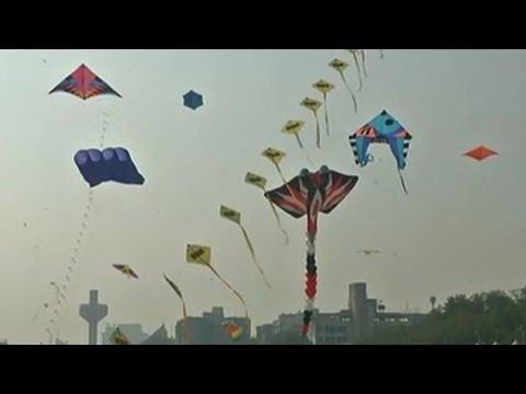 International Kite Festival Begins In Western India