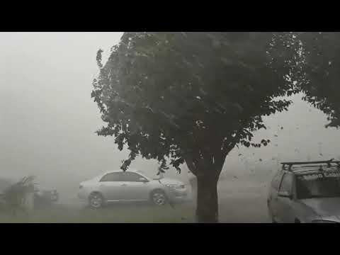 chuva de granizo em Bandeirantes