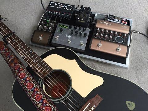 LR Baggs Acoustic Guitar Pedalboard Demo