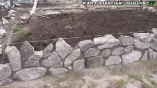 видео Каменная кладка, как класть натуральный (природный) камень своими руками