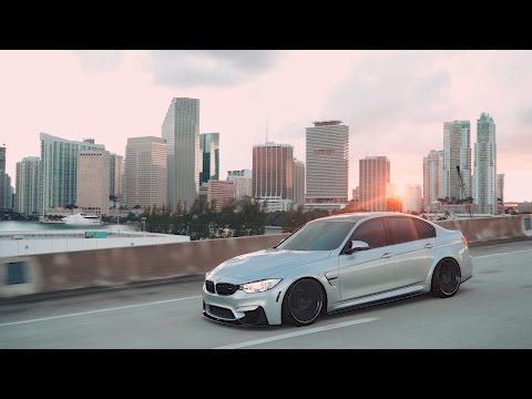 Static BMW M3 in downtown Miami | I Love Bass