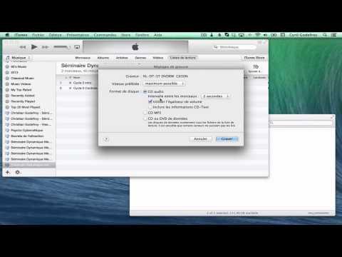 Comment graver un CD audio sur iTunes