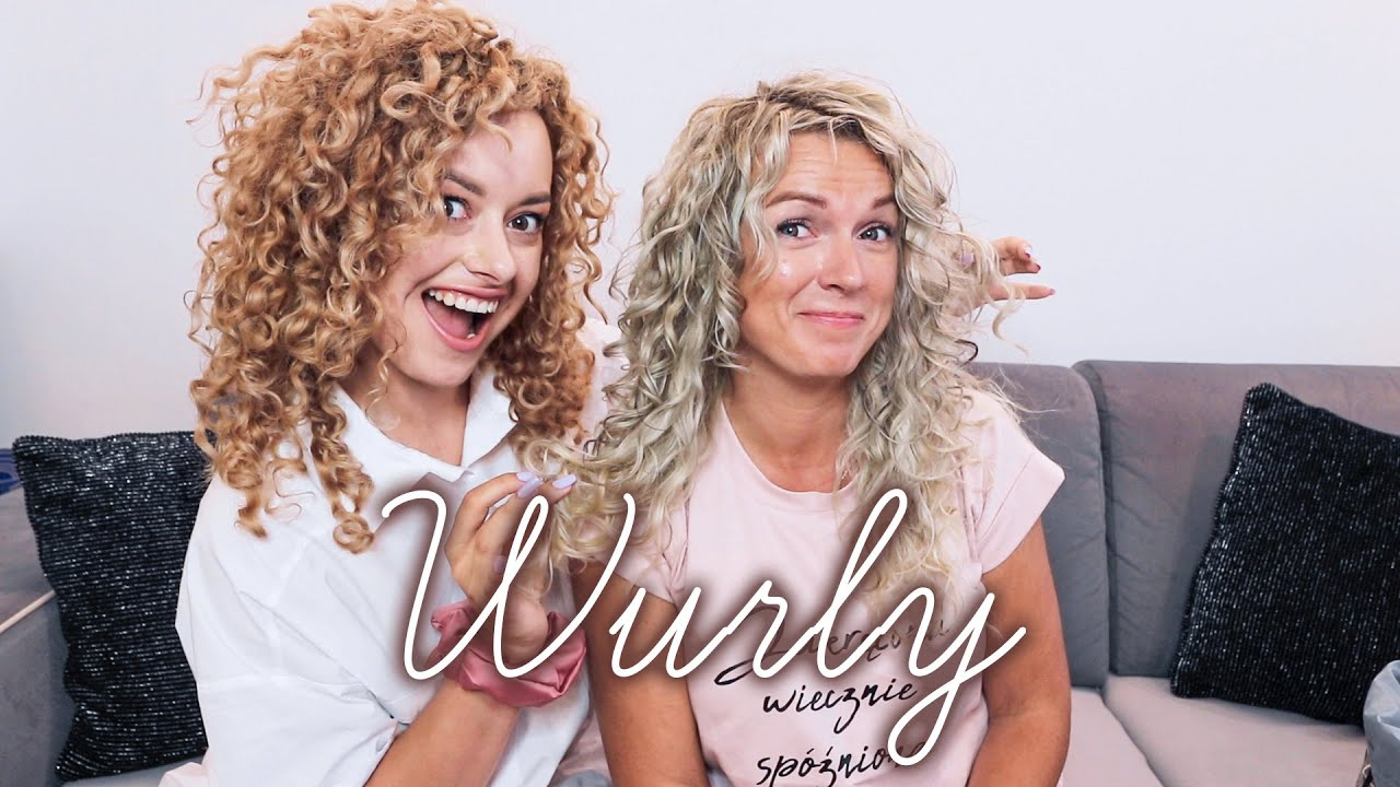 Pielęgnacja i stylizacja blond włosów WURLY z Natalią ⭐️   Curly Madeleine