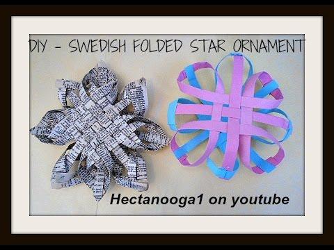 Diy Swedish Folded Star Ornament Recycled Ornament Paper Ornament